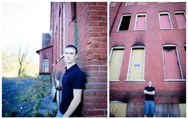 north penn high school senior urban brick wall
