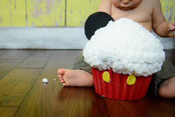 Mickey Cake Smash – {Perkiomenville, PA}