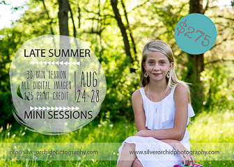 Late Summer Mini Sessions with Silver Orchid Photography