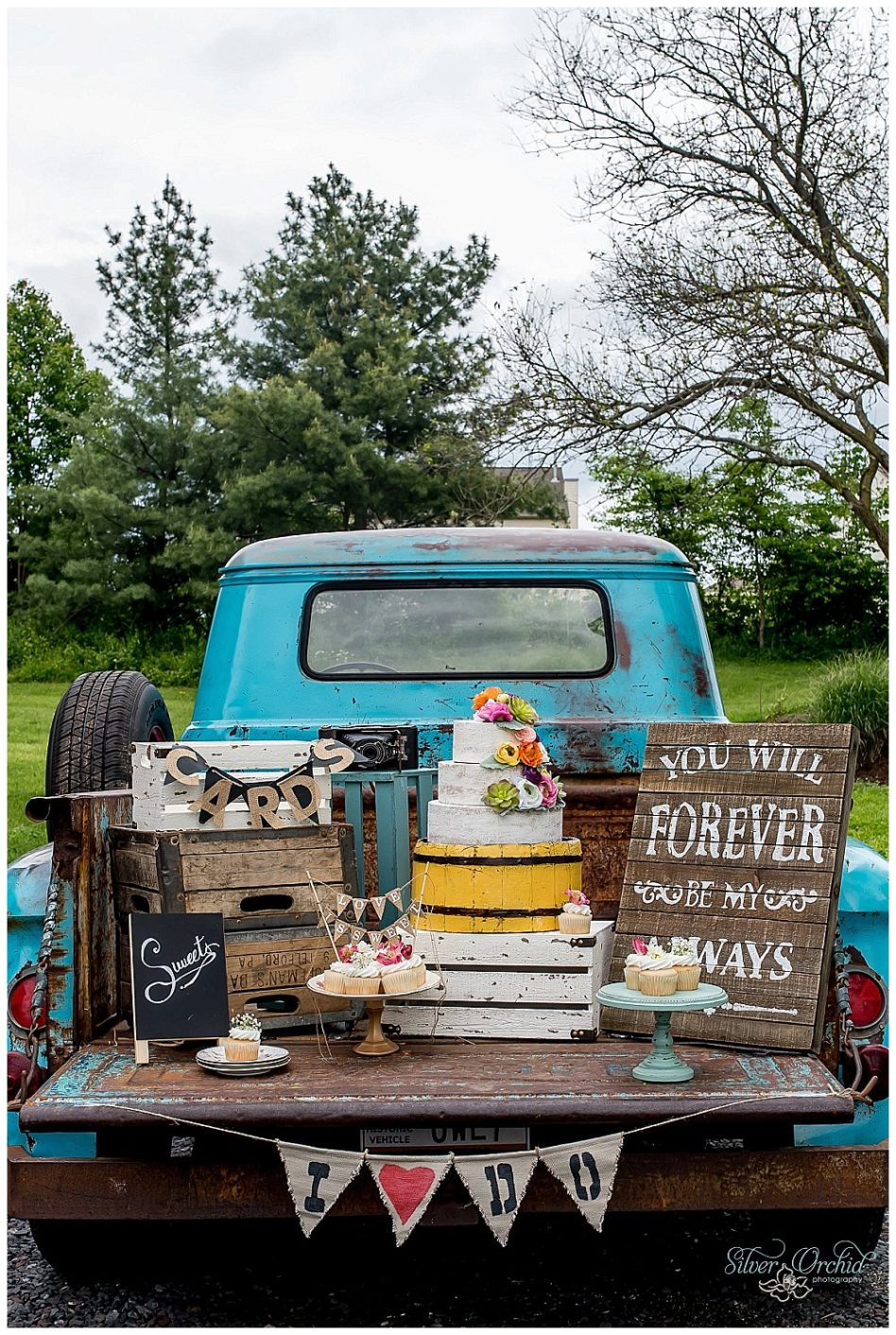 little blue truck, silver orchid photography, apache, vintage rental, vintage, rental