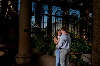 Carly + Richie's Longwood Gardens Engagement Session