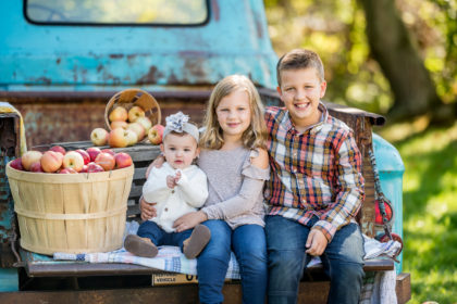 Silver Orchid Photography, Family Photography, Family Sessions, Fall Sessions, Family Portraits, Perkiomenville, PA, Apple Harvest, Little Blue Truck, Outdoor, Frecon Farms