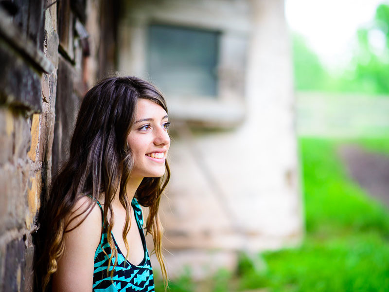 Candid portrait of high school senior girl by Southern Pennsylvania senior photographer Tara Lynn of Silver Orchid Photography