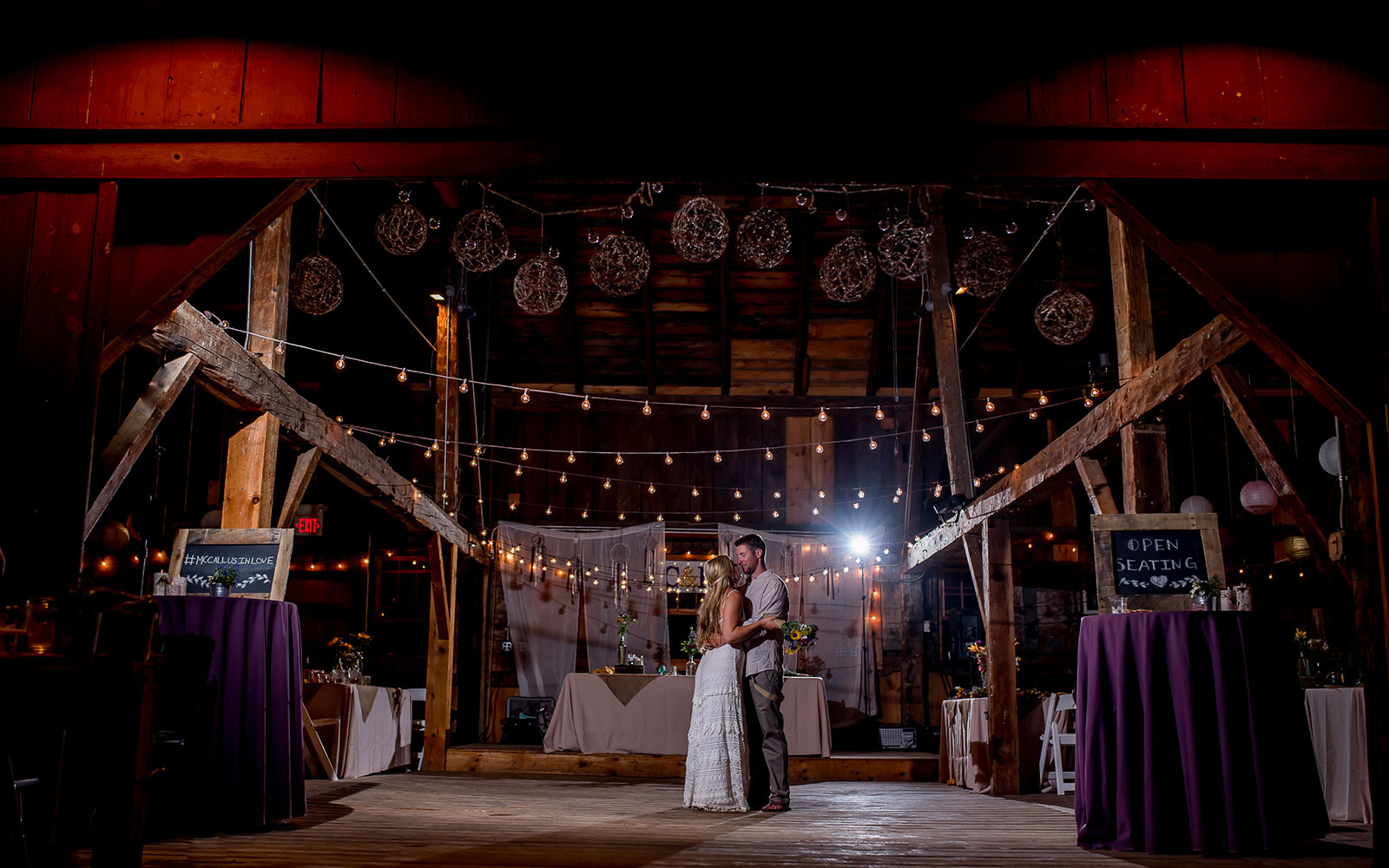 Rustic barn wedding photograph in Southern Pennsylvania by Silver Orchid Photography