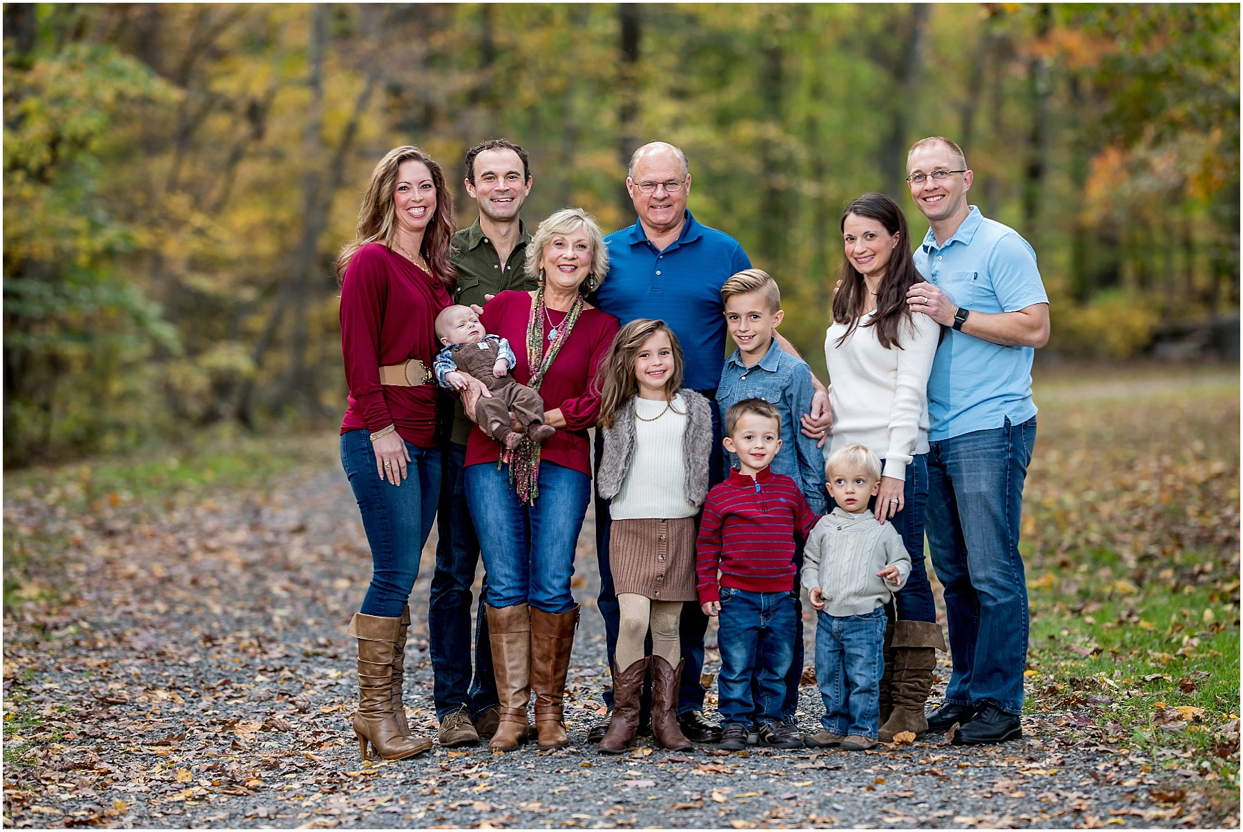Silver Orchid Photography, Family Photography, Family Session, Outdoor Session, Extended Family Session, Green Lane Park, Green Lane, PA, Fall Sessions
