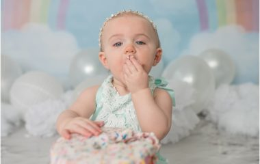 Silver Orchid Photography, Silver Orchid Photography Portraits, Silver Orchid Photography Studio, Perkiomenville, Montgomery County, PA, Cake Smash, First Birthday, Rainbow, Studio Session