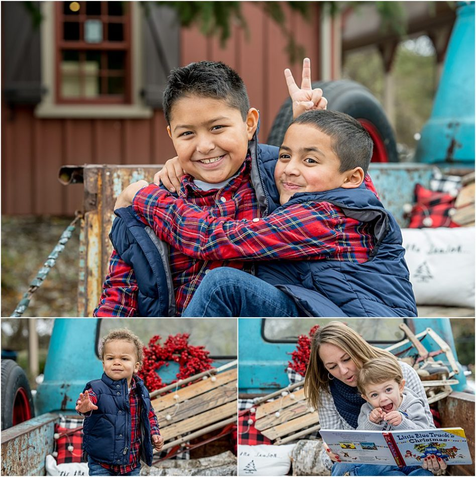 Silver Orchid Photography, Silver Orchid Photography Portraits, Cool Yule, Cool Yule Days, Cool Yule 2018, Skippack Village, Skippack, PA, Montgomery County, Santa, Christmas, Holiday, Melt downs, Freak outs, Funny Moments, Siblings, Little Blue Truck, Laughs