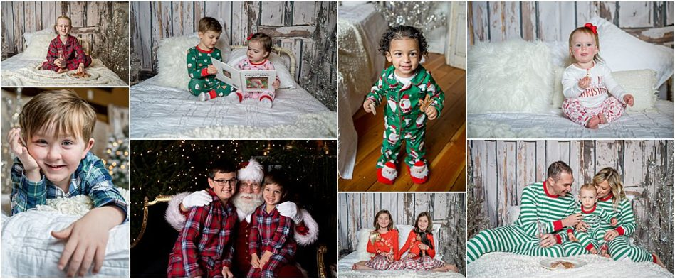 Silver Orchid Photography, Silver Orchid Photography Portraits, Cool Yule, Cool Yule Days, Cool Yule 2018, Skippack Village, Skippack, PA, Montgomery County, Santa, Christmas, Holiday, Winter Fashion, Buffalo Plaid, PJs, Pajamas, Outerwear, Classic Looks, Siblings, Little Blue Truck