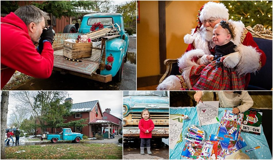 Silver Orchid Photography, Silver Orchid Photography Portraits, Cool Yule, Cool Yule Days, Cool Yule 2018, Skippack Village, Skippack, PA, Montgomery County, Santa, Christmas, Holiday, Siblings, Little Blue Truck, Behind the Scenes, Winter