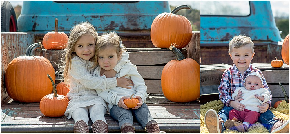 Silver Orchid Photography, Silver Orchid Photography Portraits, Montgomery County, PA Photographer, Fall Sessions, Pumpkin Farm, Pumpkin Session, Autumn Sessions, Little Blue Truck