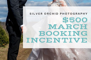 Silver Orchid Weddings, March Booking Incentive