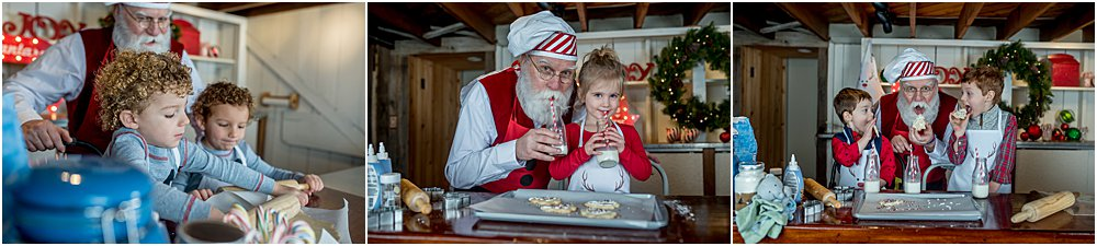 Silver Orchid Photography, Silver Orchid Photography Portraits, Park Session, Creek, Montgomery County, PA, Christmas Portraits, Cookies With Santa, Pictures With Santa, Baking With Santa, Holiday Pictures, Christmas Pictures
