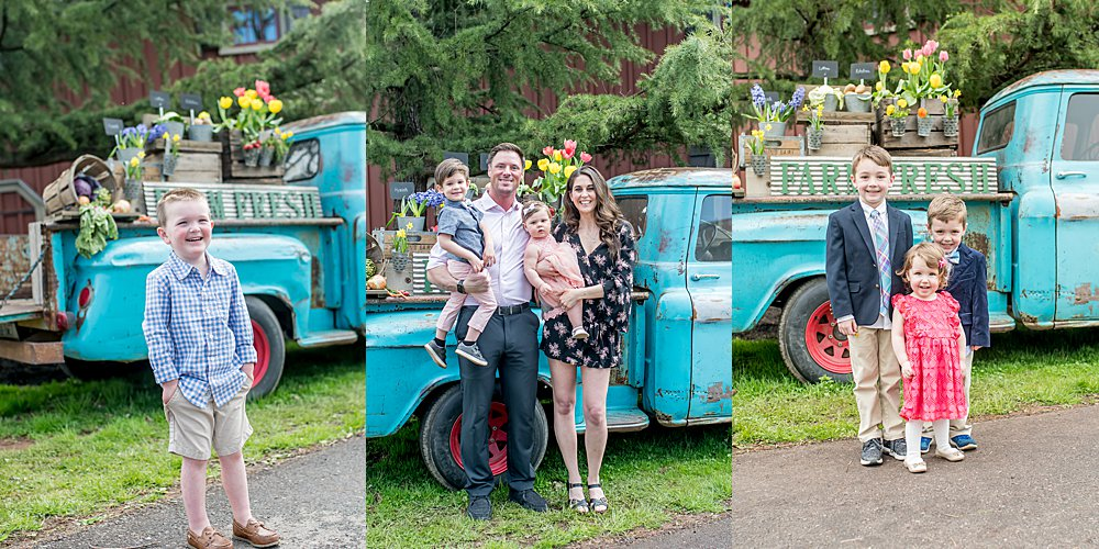 Silver Orchid Photography, Silver Orchid Photography Portraits, A Garden Party, Spring Portraits, Mommy and Me, Farm Fresh Truck, Little Blue Truck, Family Portraits, Skippack PA, PA