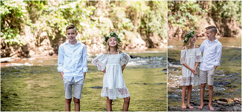 Silver Orchid Photography, Silver Orchid Photography Portraits, Outdoor Portraits, Family Portraits, Park Portraits, Creek Portraits, Sibling Portraits, Brother and Sister